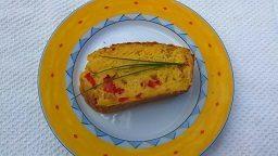 Cake salé bacon poivron rouge